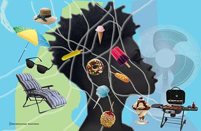 Digital Art - Summertime Utopia by Michael Chatman