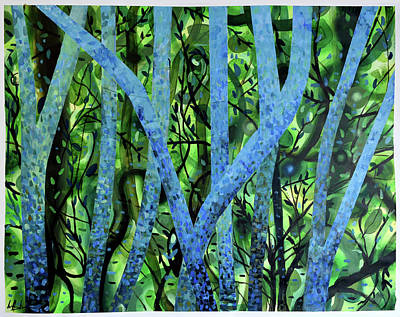 Painting - Summertree Fantasia by Geoff Greene