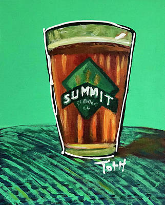 Growler Painting - Summit 2 by Laura Toth