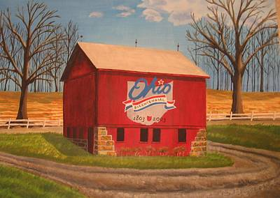 Summit County Painting - Summit County Barn by CB Woodling