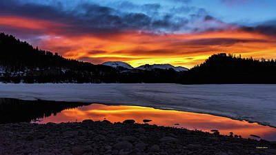 Photograph - Summit Cove Sunset Reflections by Stephen Johnson