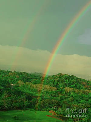 Photograph - Summit Golf Double Rainbow by Camille Pascoe