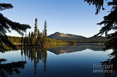 Mountain Reflection Lake Summit Mirror Photograph - Summit Lake by Greg Vaughn - Printscapes