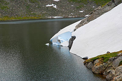Photograph - Summit Lake Study 7 by Robert Meyers-Lussier