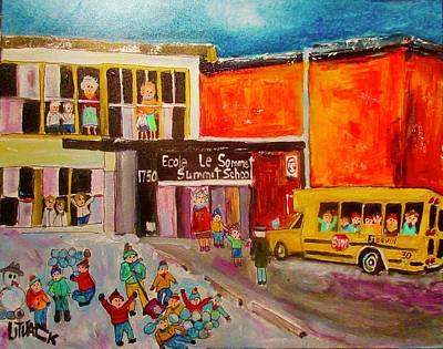 Painting - Summit School Winter Play by Michael Litvack