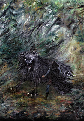 Painting - Summoning Fenrisulfr by FT McKinstry