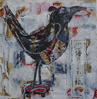 Crows Painting - Sumo Crow by Georgia Donovan