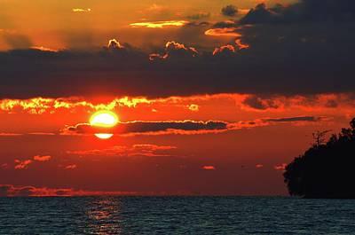 Photograph - Sun Above Lake Simcoe by Lyle Crump