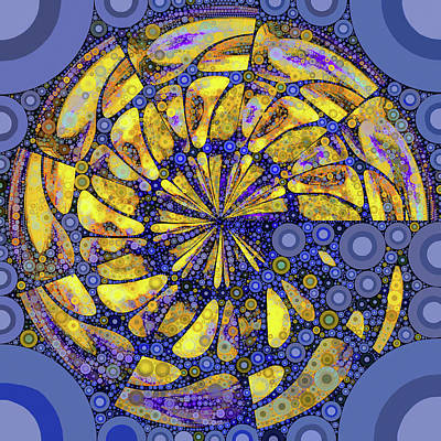 Digital Art - Sun Above The Surface by Susan Maxwell Schmidt