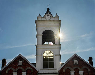 Photograph - Sun And Clock Tower by Greg Mimbs