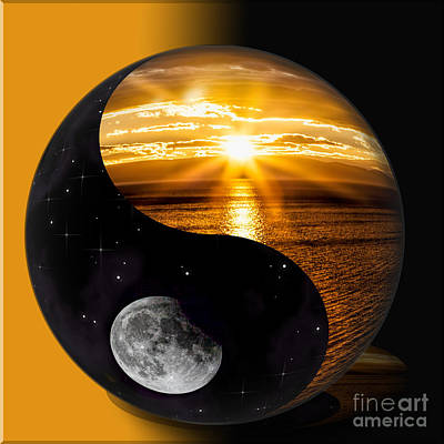 Photograph - Sun And Moon - Yin And Yang by Shirley Mangini