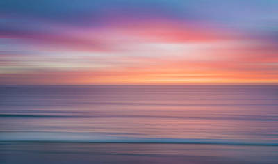 Beautiful Sunset Wall Art - Photograph - Sun And Sea Abstract by Larry Marshall
