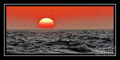 Photograph - Sun And Sea Gull Ver2 by Larry Mulvehill