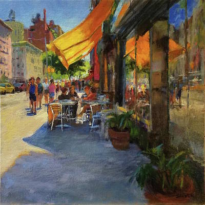 Painting - Sun And Shade On Amsterdam Avenue by Peter Salwen