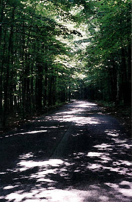 Art Print featuring the photograph Sun And Shadow Road In Summer Imp Wc by Lyle Crump