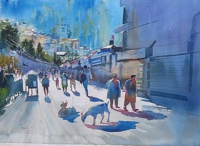 Painting - Sun And Shimla  by Bijay Biswaal