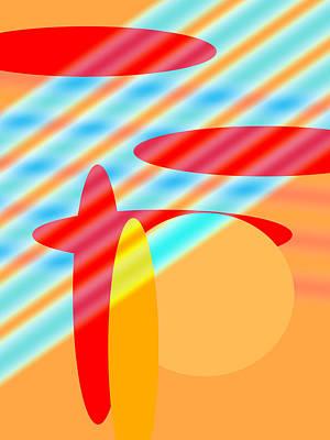 Digital Art - Sun And Surf I by Paulette B Wright