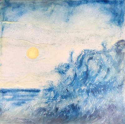 Encaustic Painting - Sun And Surf by Kyle Evans