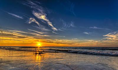 Channel Photograph - Sun And Surf by Marvin Spates