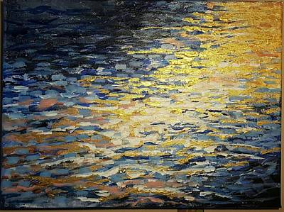 Painting - Sun And Wind On Water by J Anthony Shuff