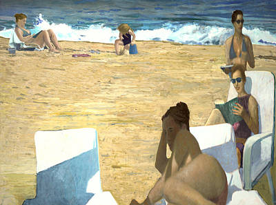 Painting - Sun Bathers by Thomas Tribby