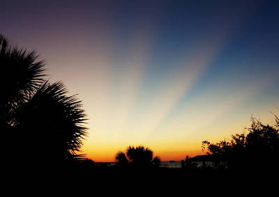 Photograph - Sun Beams At Sunrise by Laurie Pike