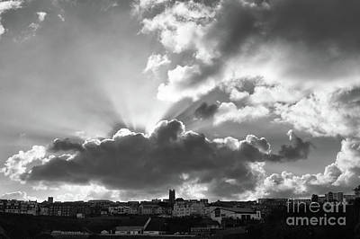 Photograph - Sun Beams Over Church by Nicholas Burningham
