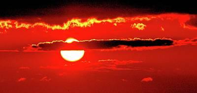 Photograph - Sun Behind A Cloud Three  by Lyle Crump
