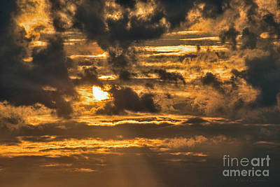 Photograph - Sun Behind Clouds by David Arment