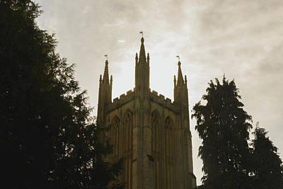 Photograph - Sun Behind Old English Church Tower by Jacek Wojnarowski