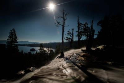 Photograph - Sun Behind Waterfall At Eagle Falls Lake Tahoe by Dan Friend