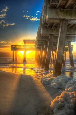 Photograph - Sun Block Tybee Island Pier by Reid Callaway