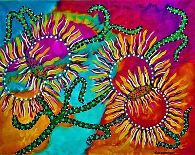 Painting - Sun  Bloom by Gina Nicolae Johnson