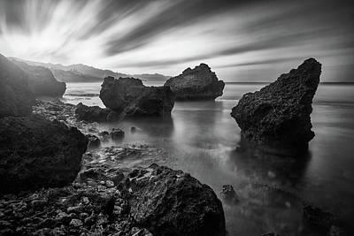 Photograph - Sun Bomb Bw by Andre Donawa