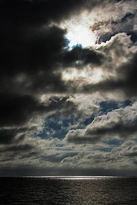Photograph - Sun Breaking Through The Clouds In Key West by Bob Slitzan