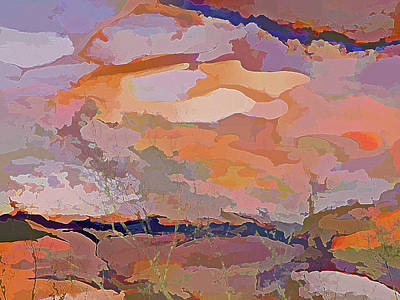 Mixed Media - Sun Breaks Through by Lynda Lehmann