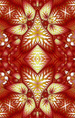 Digital Art - Sun Burnt Orange Fractal Phone Case by Lea Wiggins