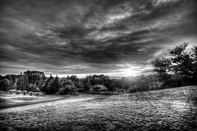 Photograph - Sun Burst Bw by Michael Damiani