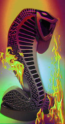 Mixed Media - Sunburst Cobra by Kevin Caudill