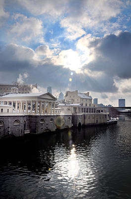 Phillies Digital Art - Sun Burst Over The Fairmount Water Works by Bill Cannon