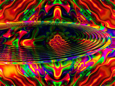 Red Abstract Mixed Media - Sun Catcher by Robert Orinski