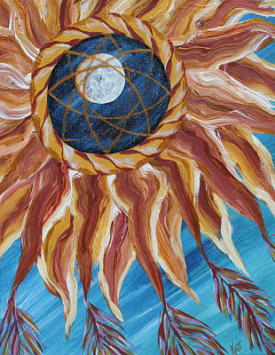 Painting - Sun Catches Moon by Kat Heckenbach