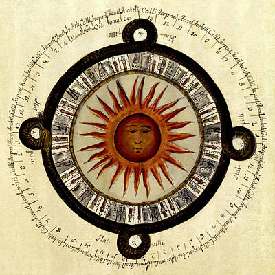 Photograph - Sun Chart 1790 by Andrew Fare