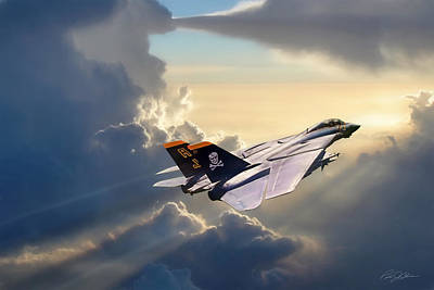 Fighters Digital Art - Sun Chaser Vf-84 by Peter Chilelli