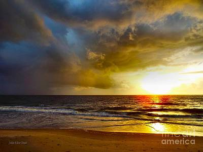 Sun Chasing The Storm Away Art Print