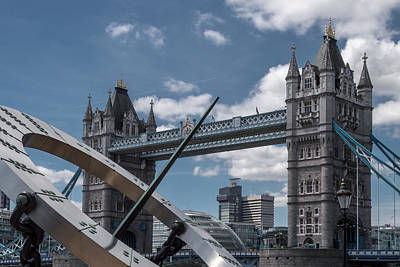 Photograph - Sun Clock With Tower Bridge by Jacek Wojnarowski