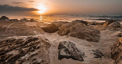 Photograph - Sun Coming Over The Rocks  by John McGraw