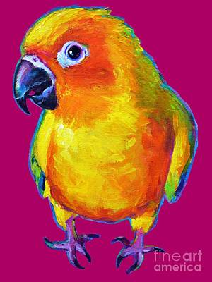 Painting - Sun Conure Parrot by Robert Phelps