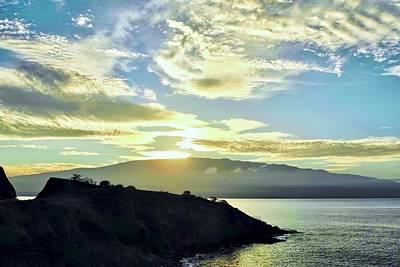 Photograph - Sun Cresting Haleakala by Kirsten Giving