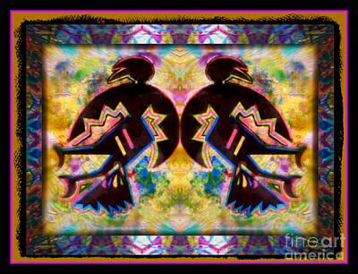 Sun Dance Angels Art Print